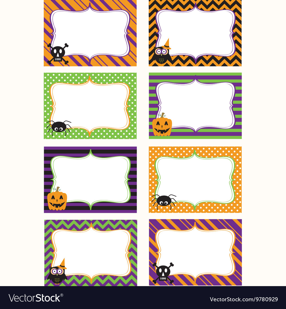 photograph relating to Free Printable Halloween Borders identify Halloween Printable labels Established
