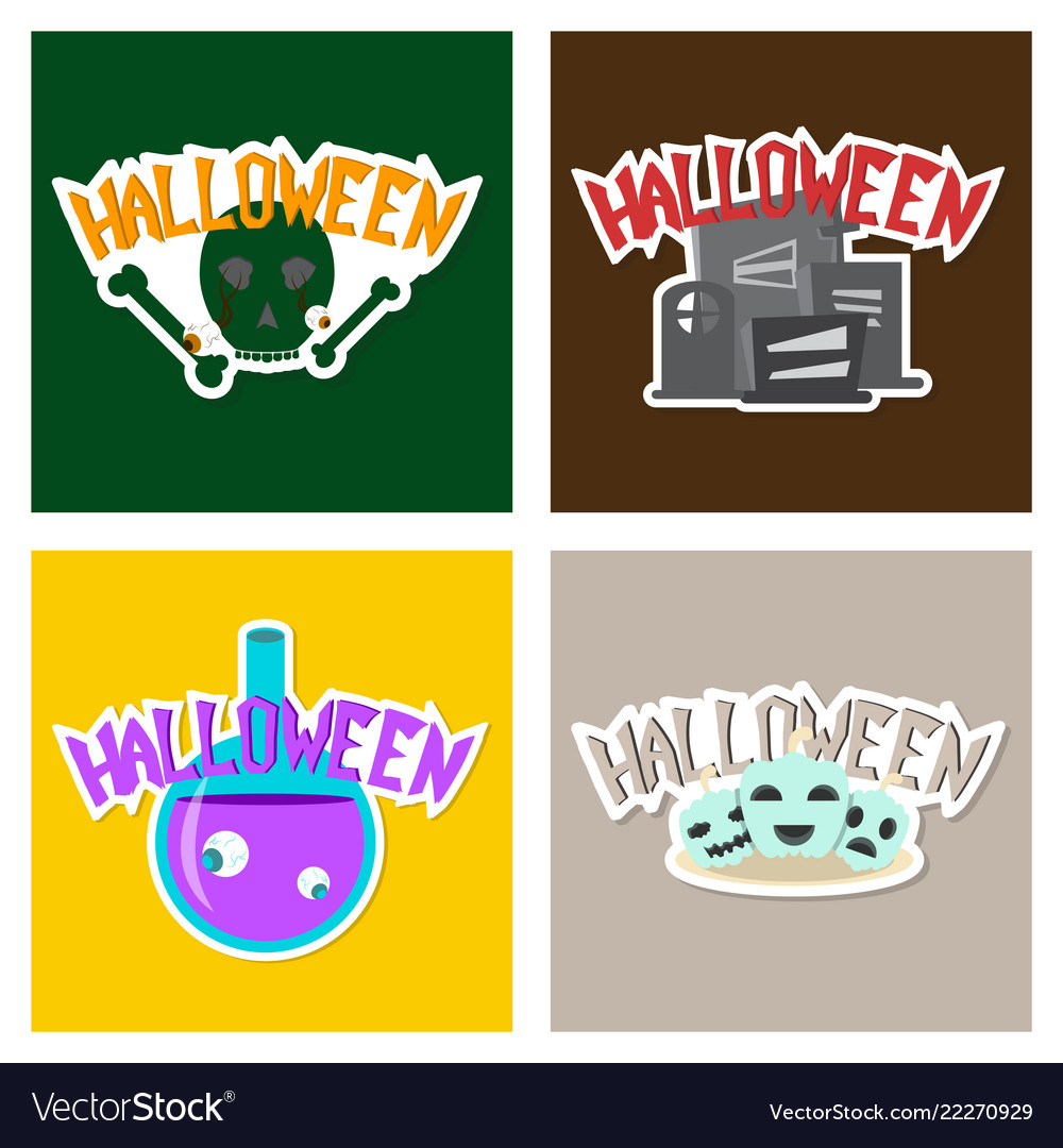 Happy halloween design elements halloween design
