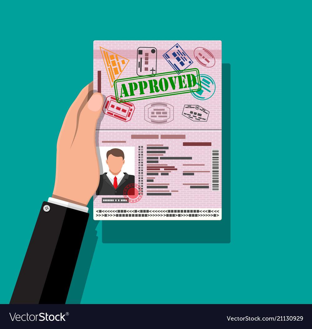 Id card in hand identity card national id card