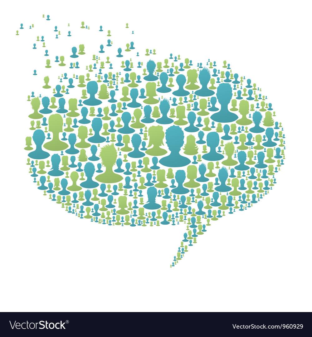 People Speech Bubble vector image