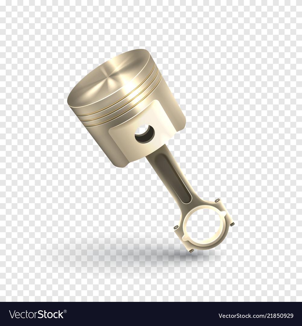 Realistic engine piston template