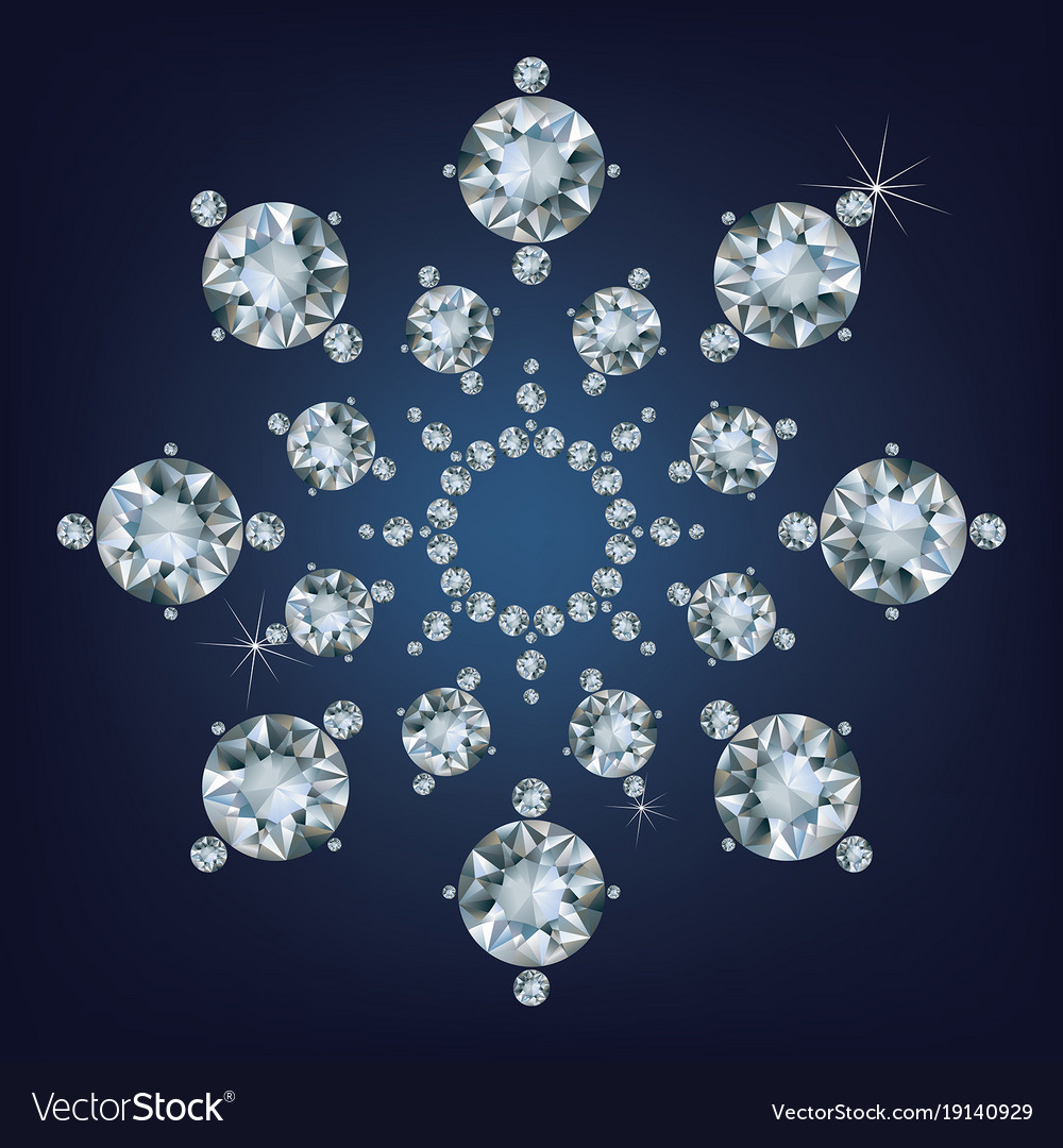 Snowflake made a lot of from diamonds