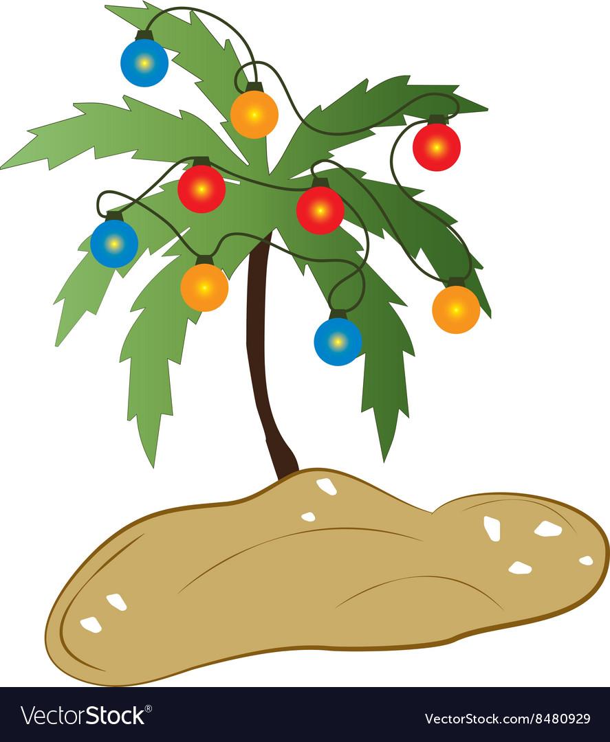 Tropical Christmas vector image