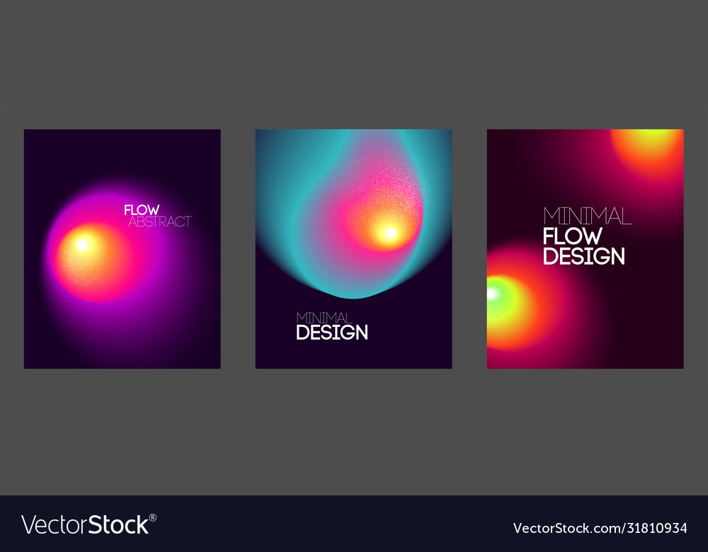 Abstract backgrounds with vibrant gradient shapes