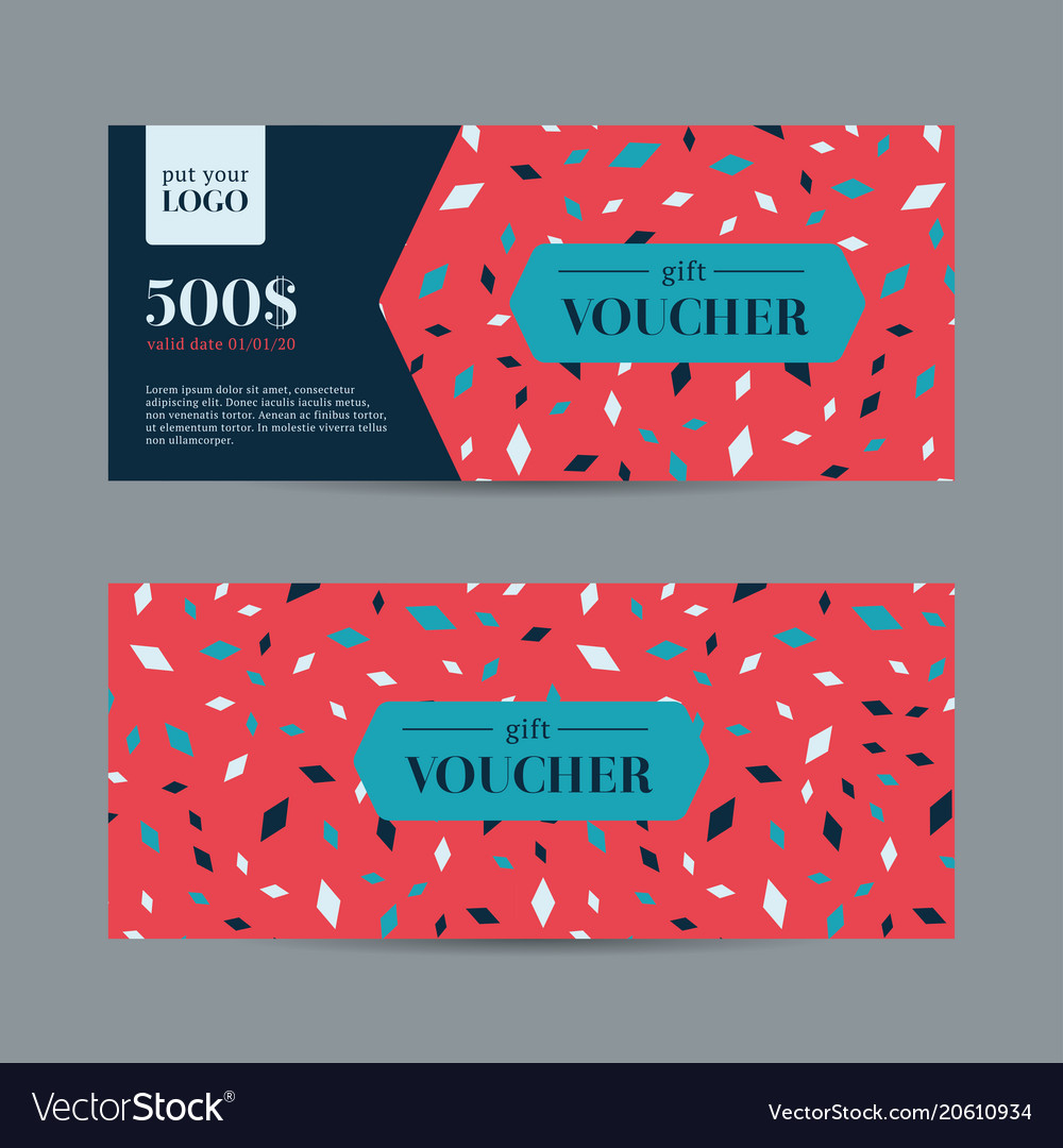 Abstract gift voucher