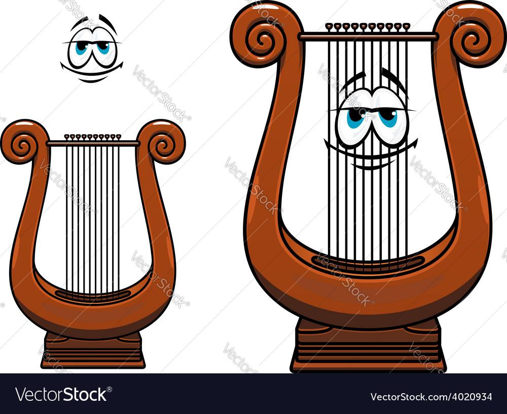 Cartoon greece musical lyre character