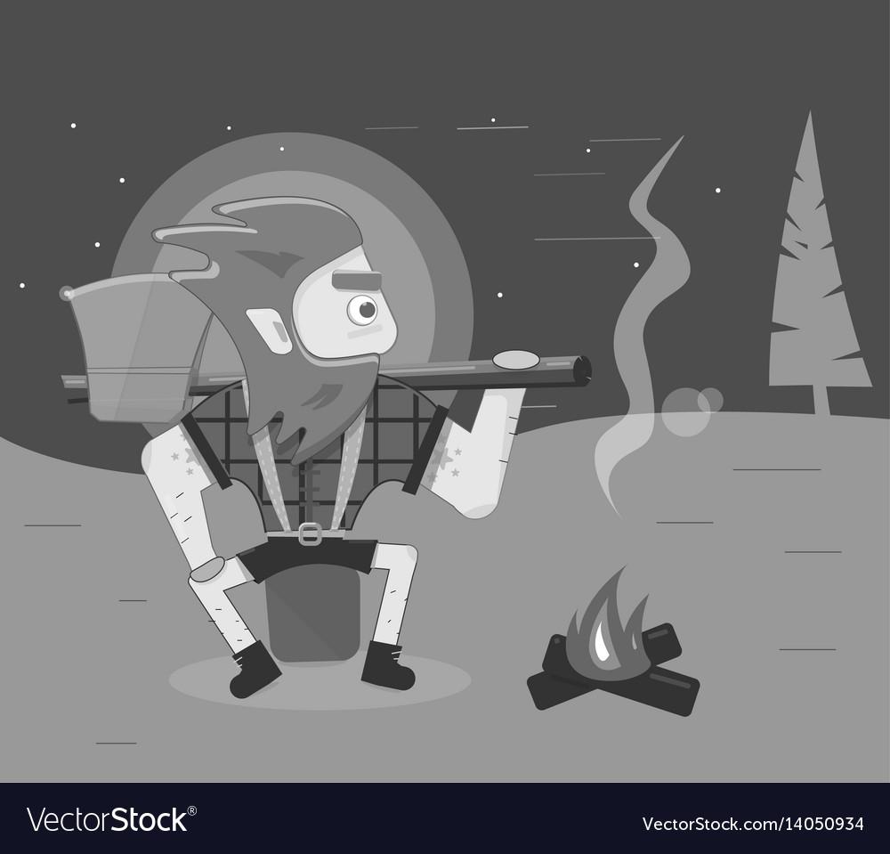 Cleaver on dark background cartoon