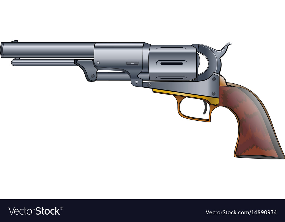 Colt revolver pistol on white background