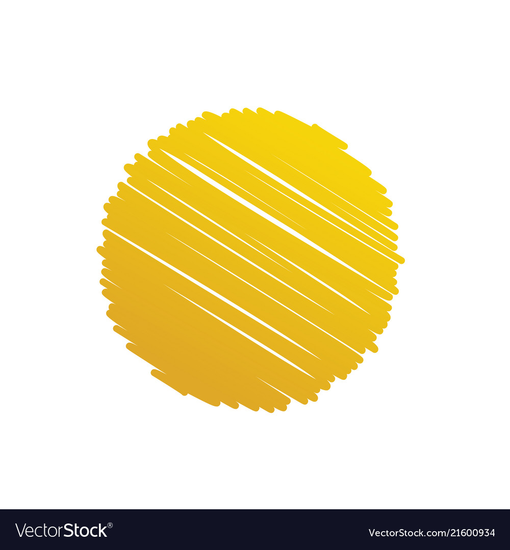 Gold abstract circle scribble background