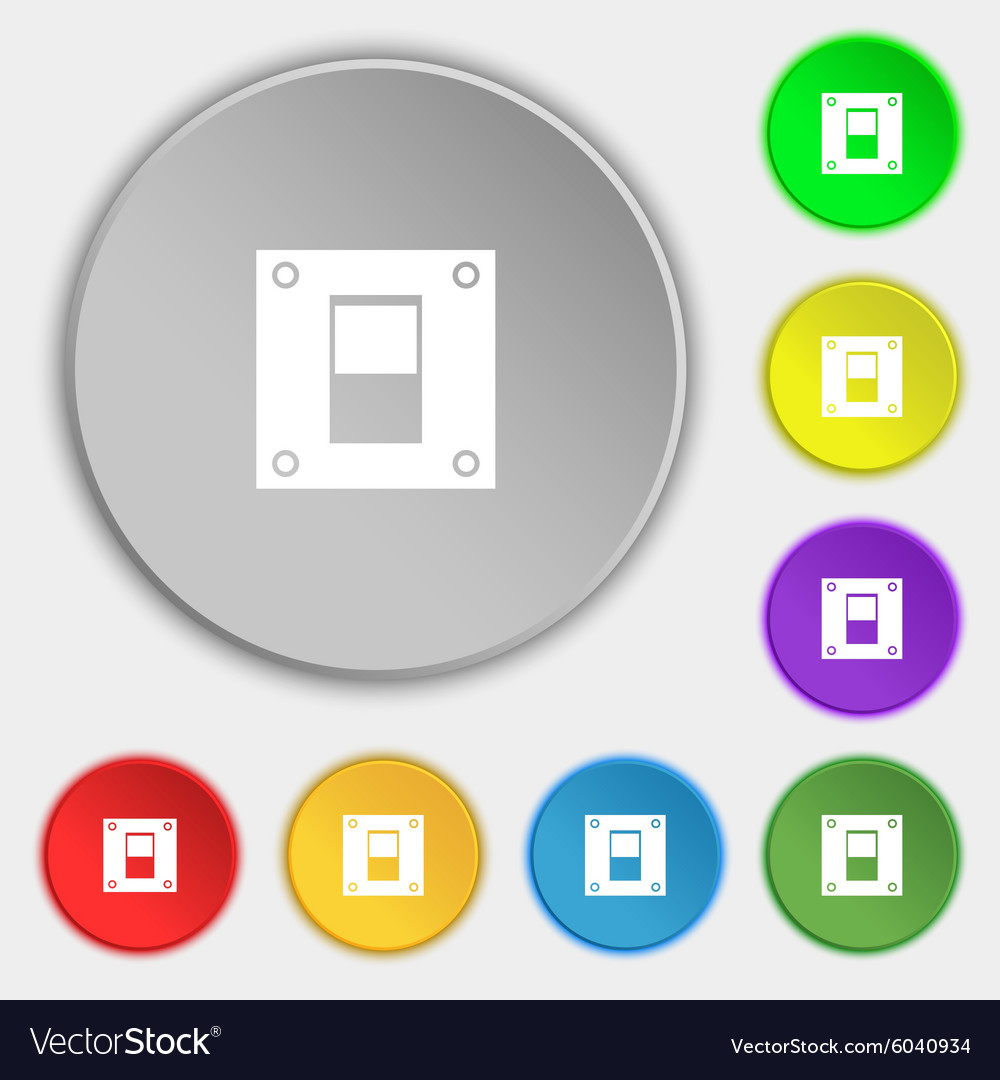 Power switch icon sign Symbols on eight flat Vector Image