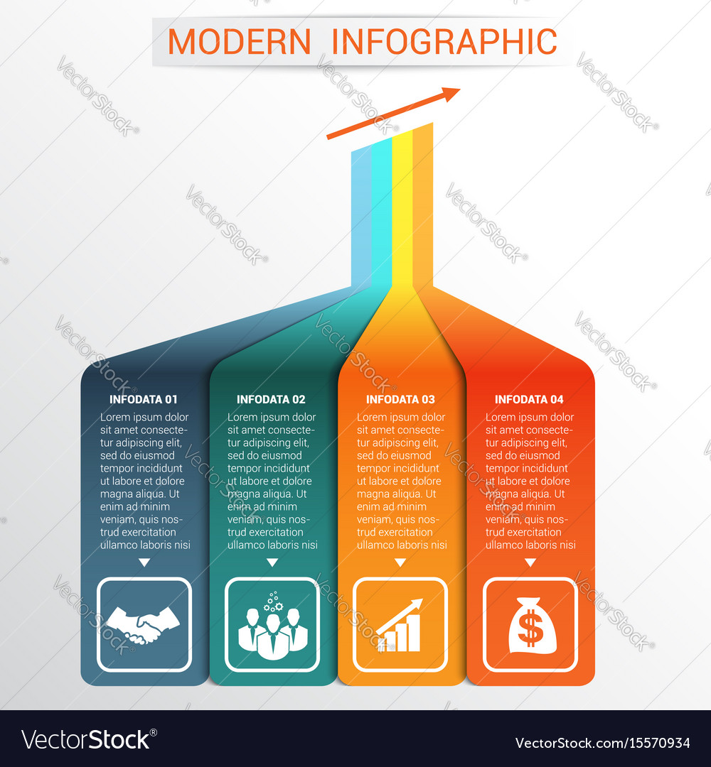 Template infographic for 4 options vector image