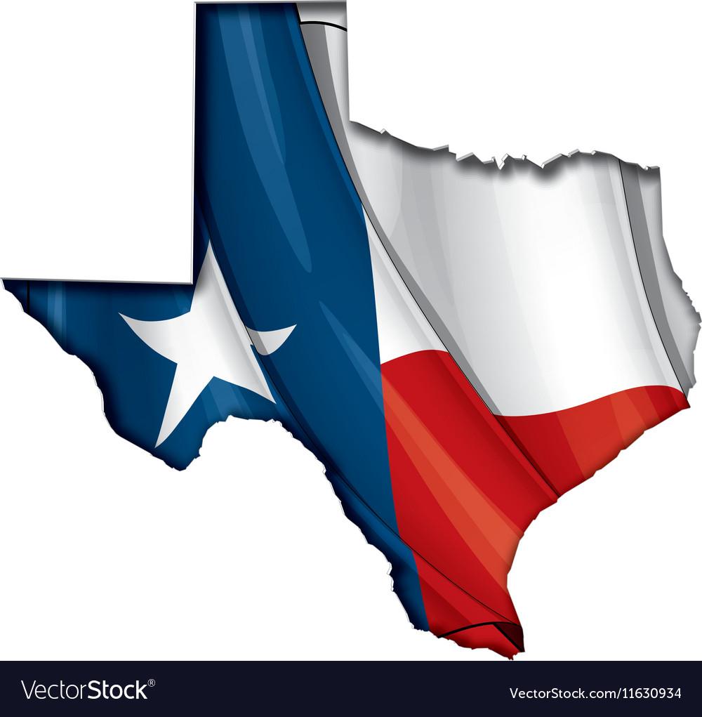 Texas Map Flag