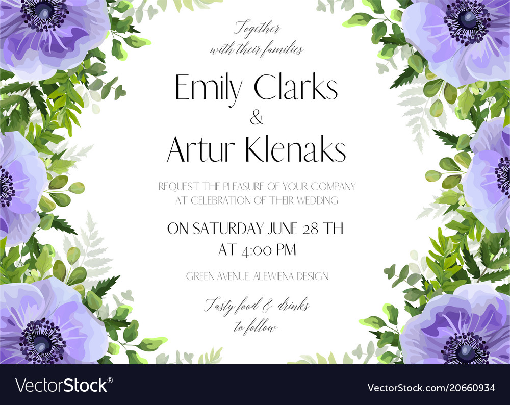 Wedding floral invitation card design
