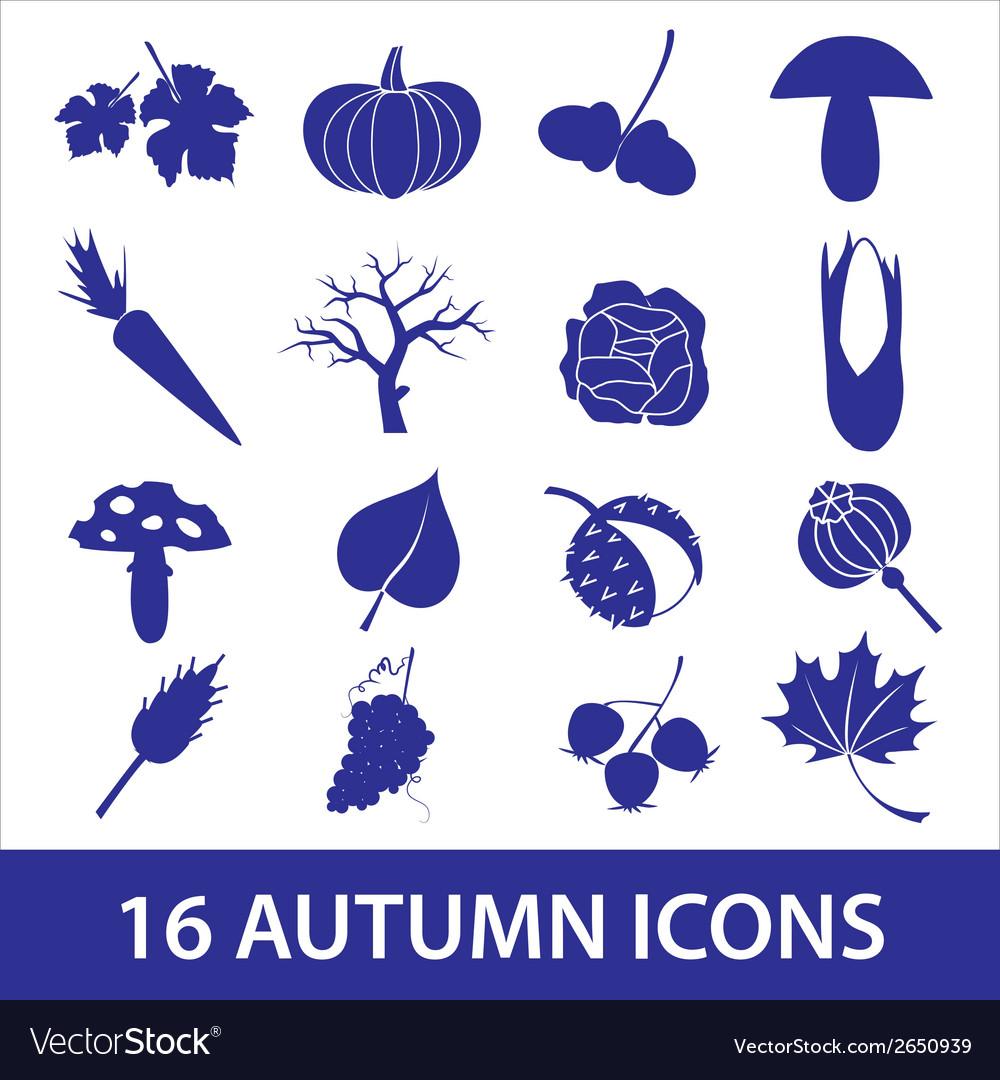 Autumn icons eps10