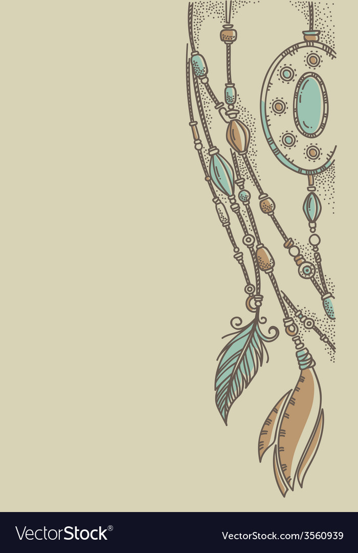 Background in boho chic style vector image