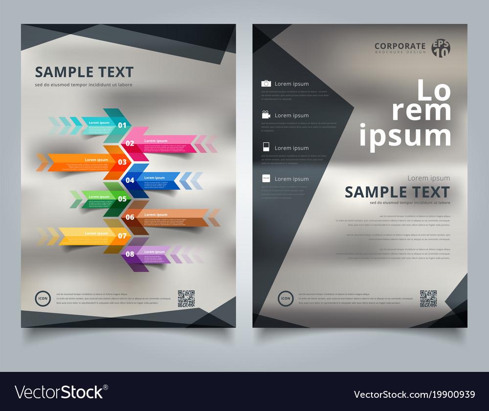 brochure template geometric black color scheme vector image on vectorstock