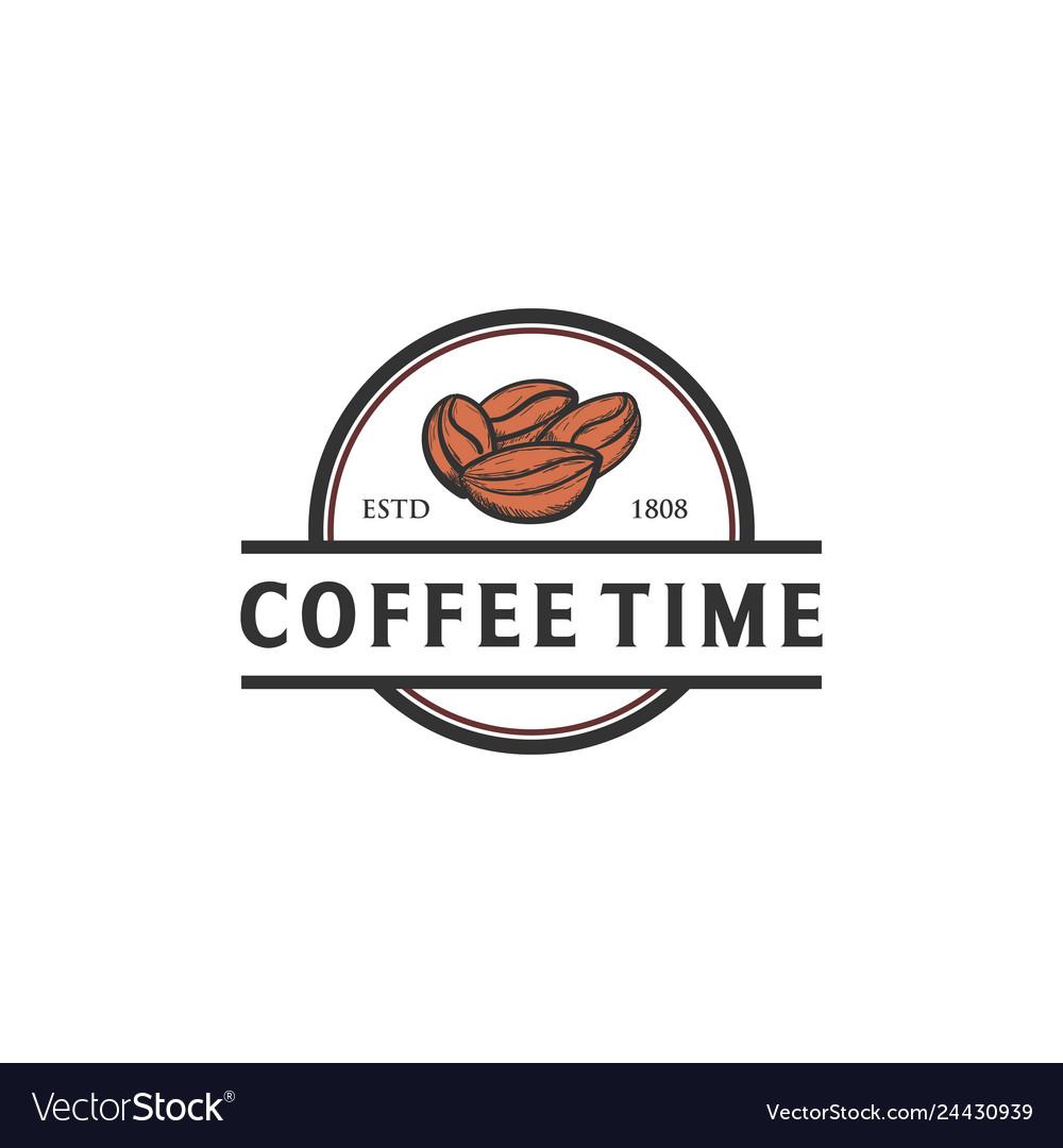 Coffee seed hand drawn logo designs
