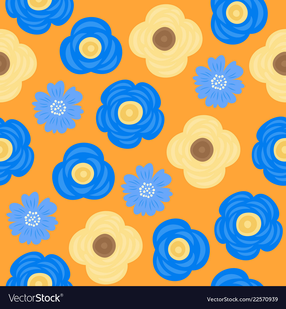 Floral seamless pattern flat design for use as