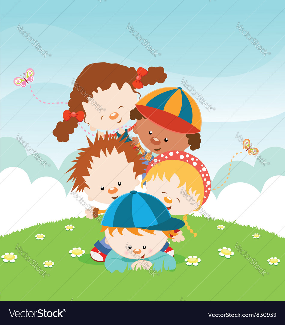 Kids Having fun vector image