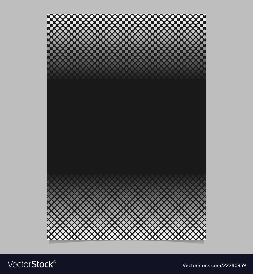 Monochrome halftone geometric dot and square