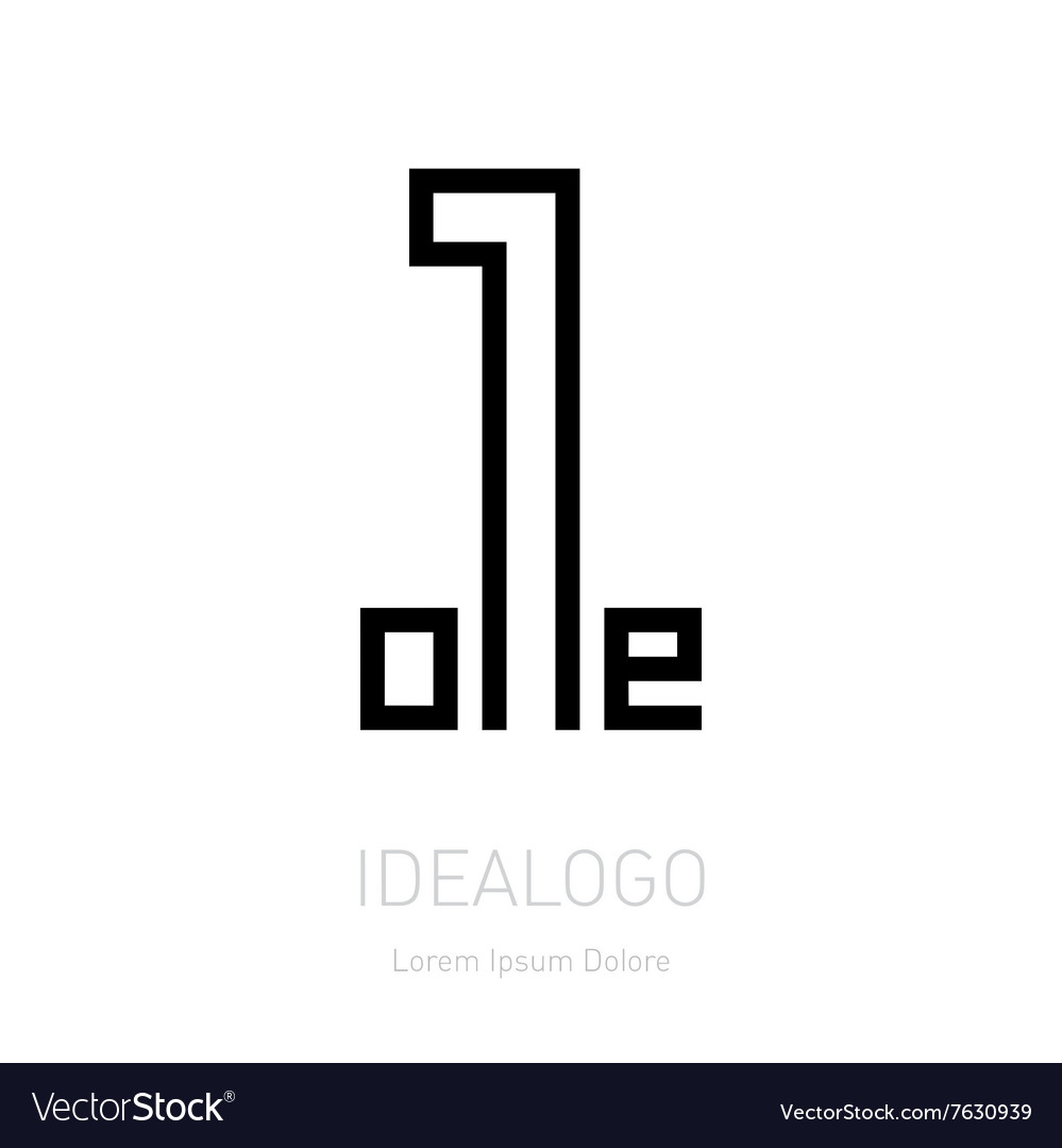 Number one sign Corporate logo design template