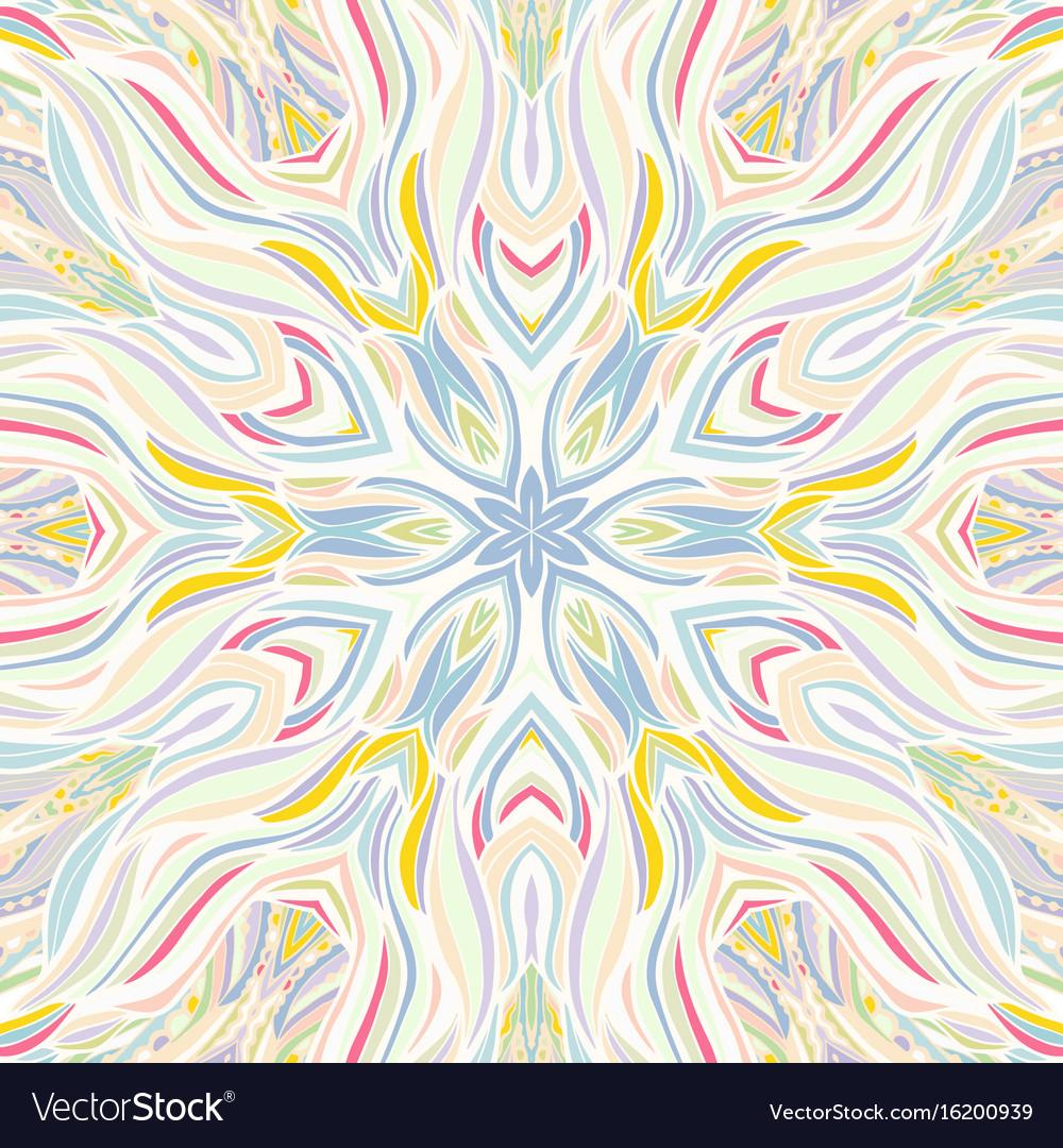 Ornamental lace floral mandala square pattern