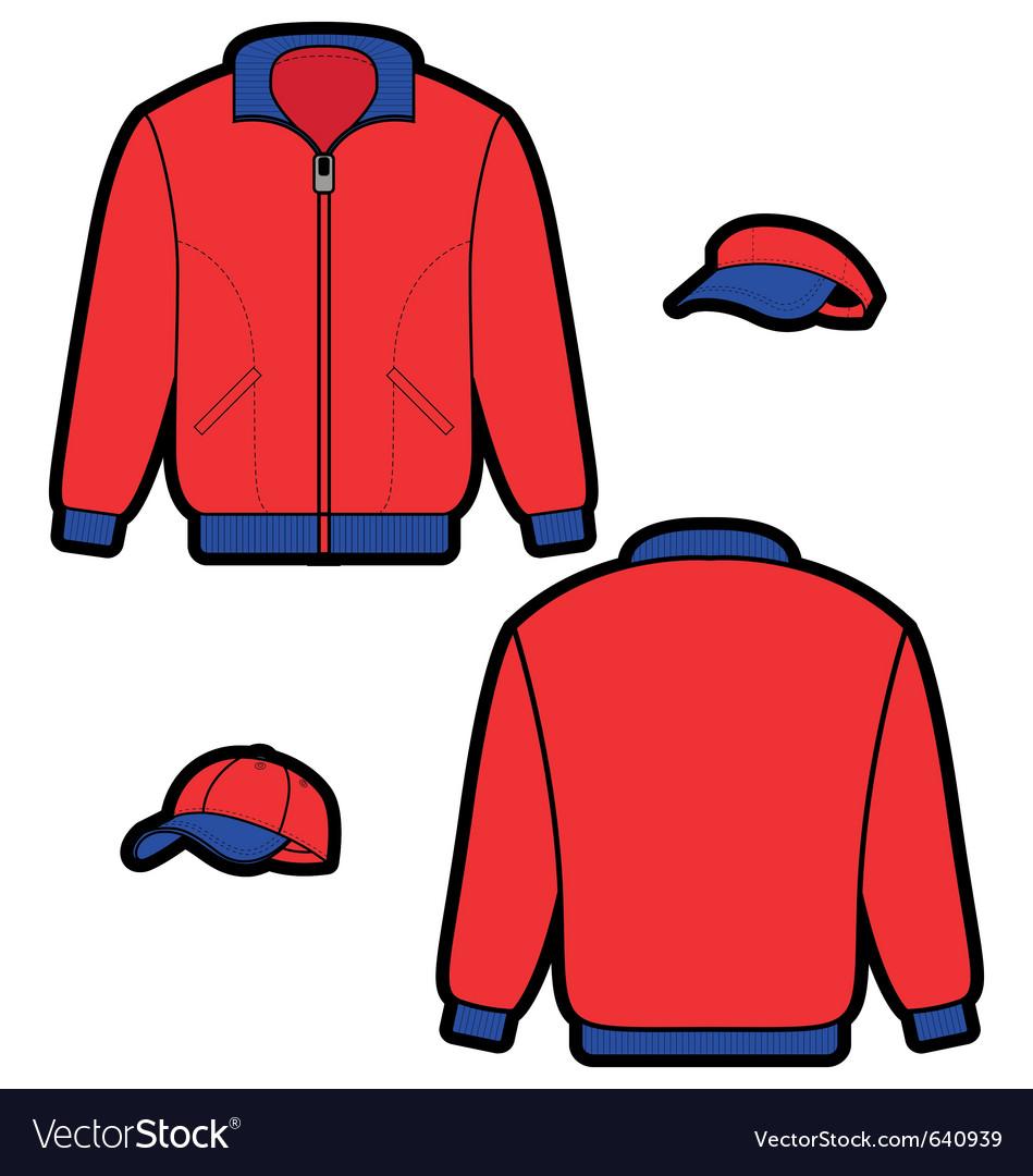Sports jacket vector image