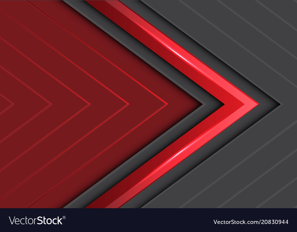 Abstract red gray arrows direction design