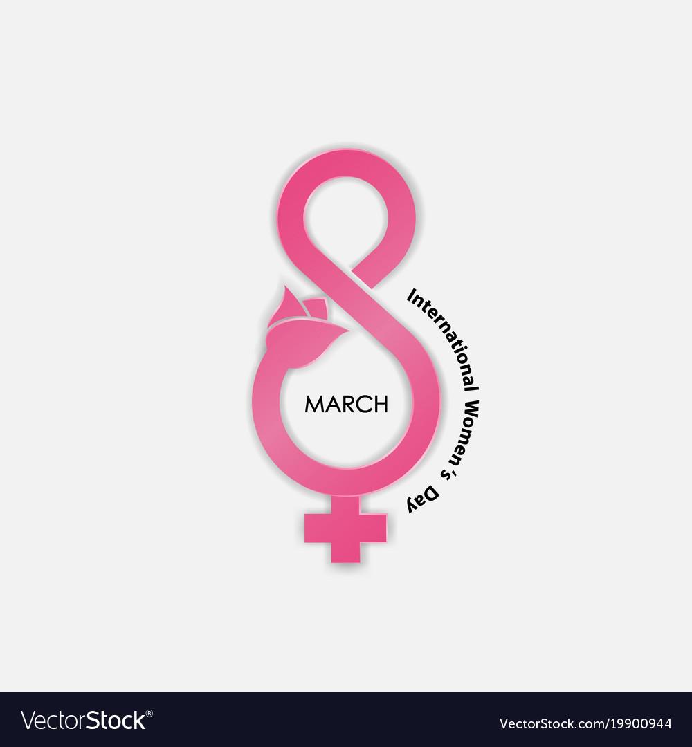 Creative 8 March Logo With International Women Day