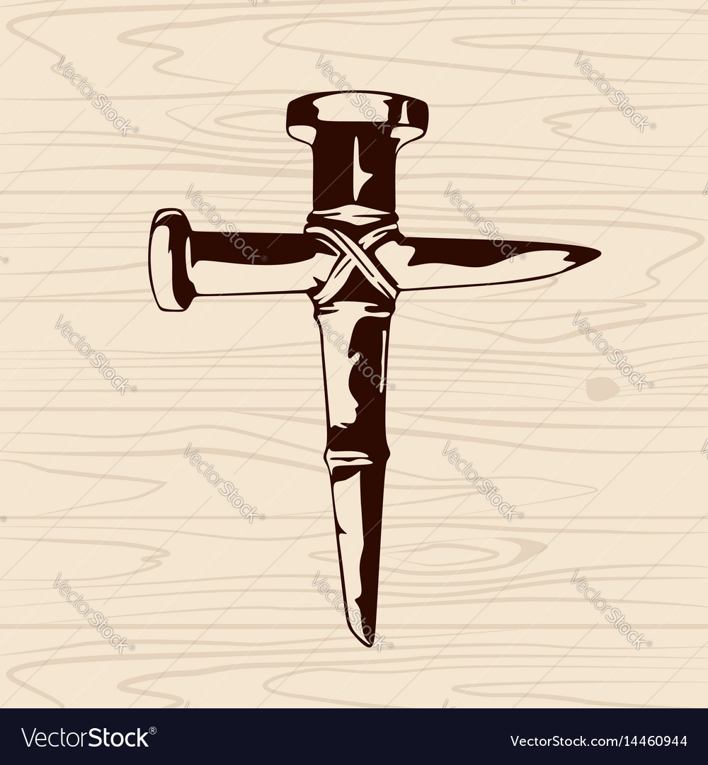 Cross of nails vector image