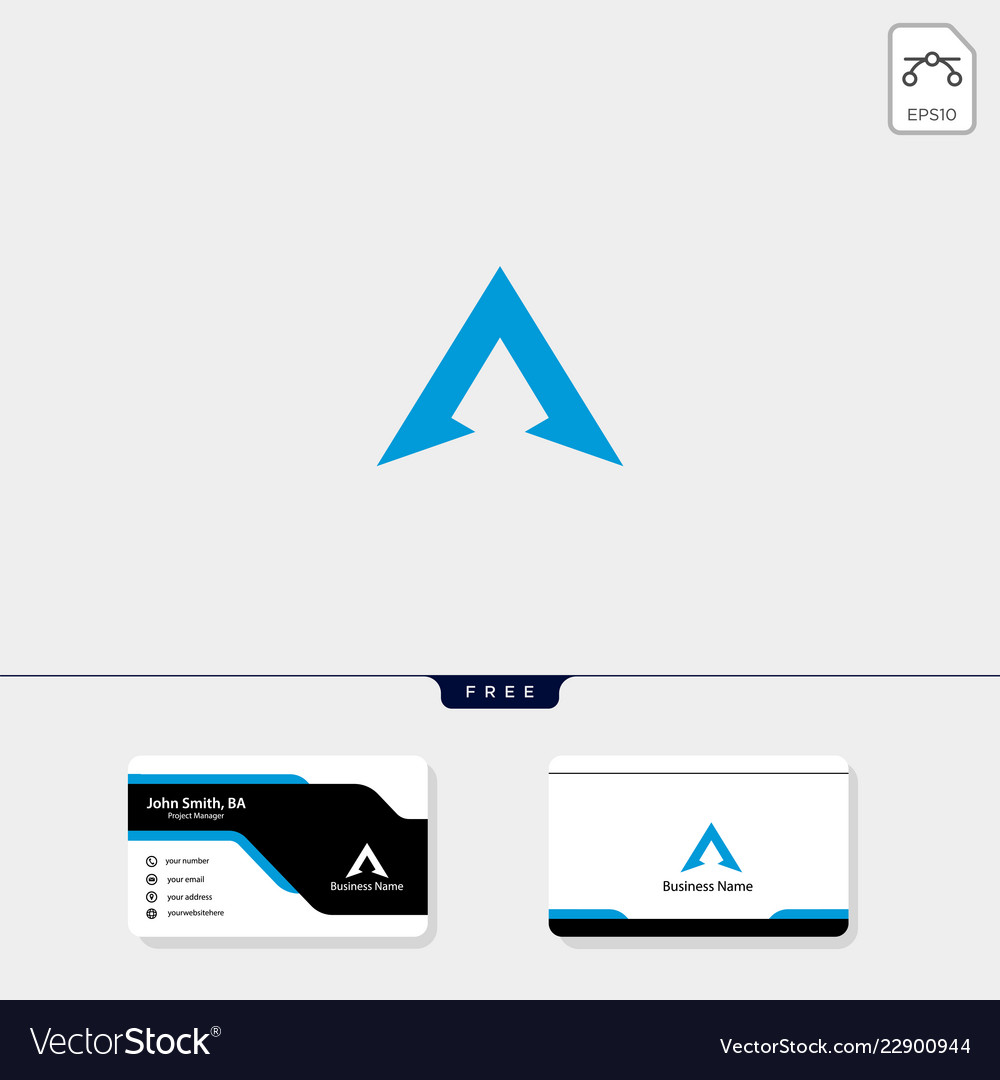 Initial a logo template and logo inspiration free