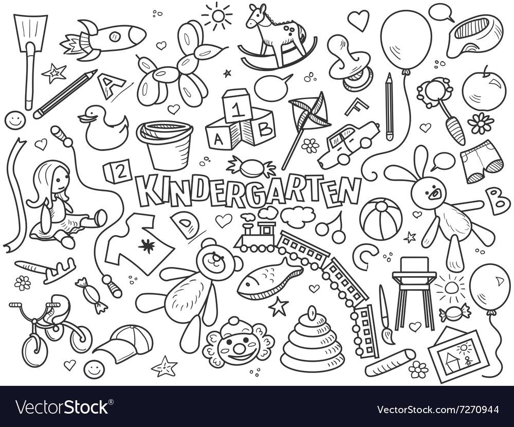 Kindergarten colorless set