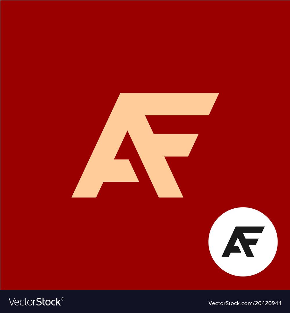 Letter a and f logo af ligature symbol