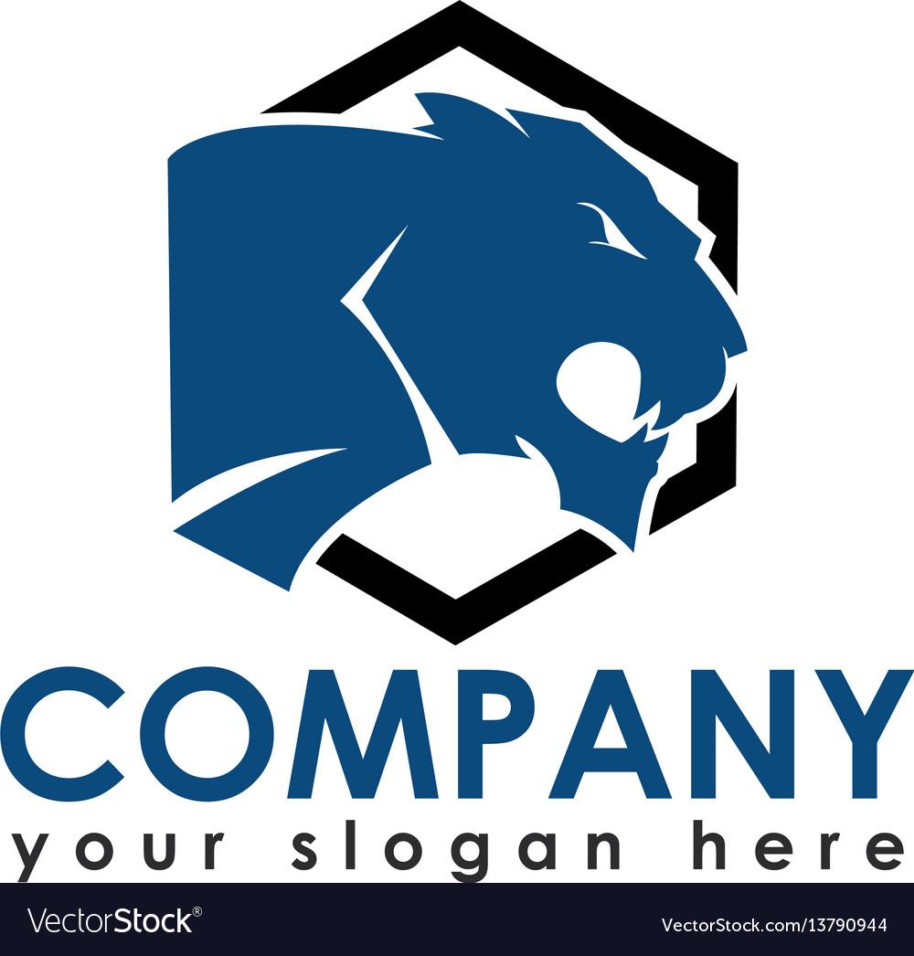 Panther or tiger logo