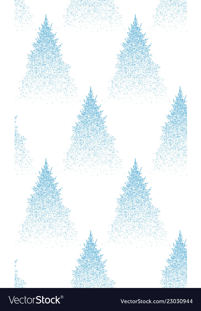 Winter seamless pattern with fir trees and pines