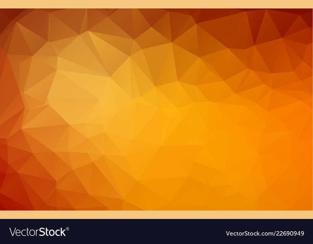 Abstract dark orange polygonal mosaic background