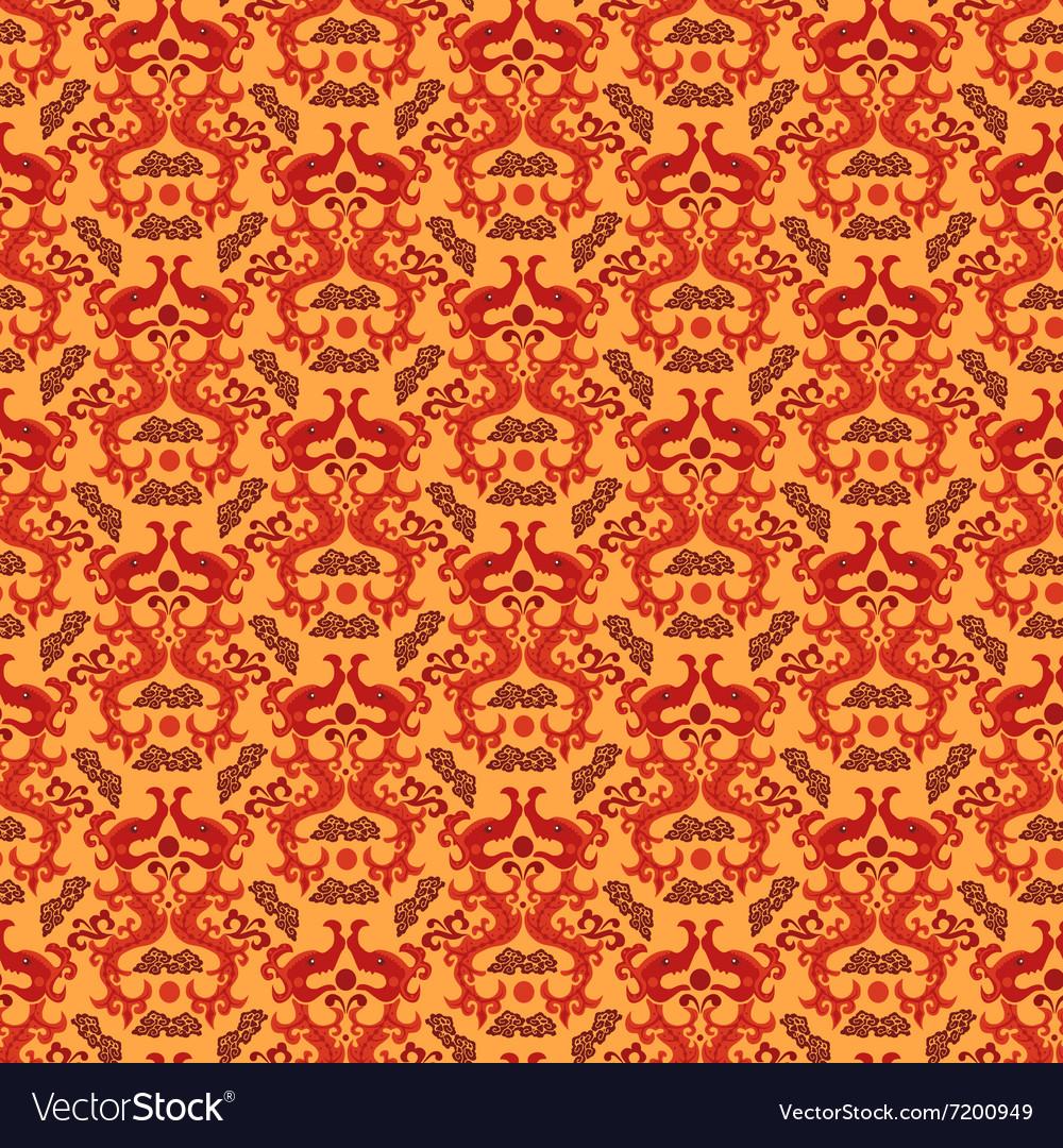 Chinese asian dragon style seamless pattern