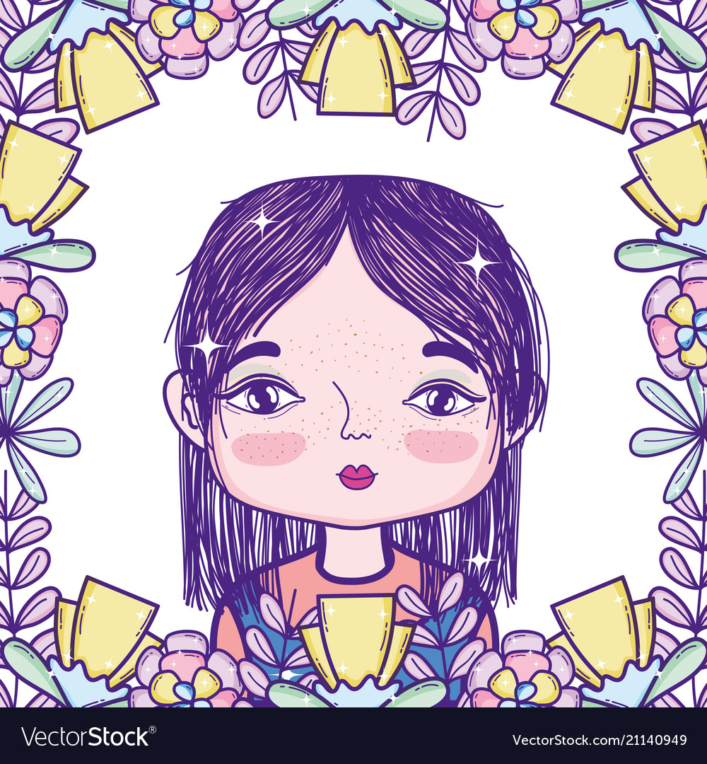Cute girl cartoon