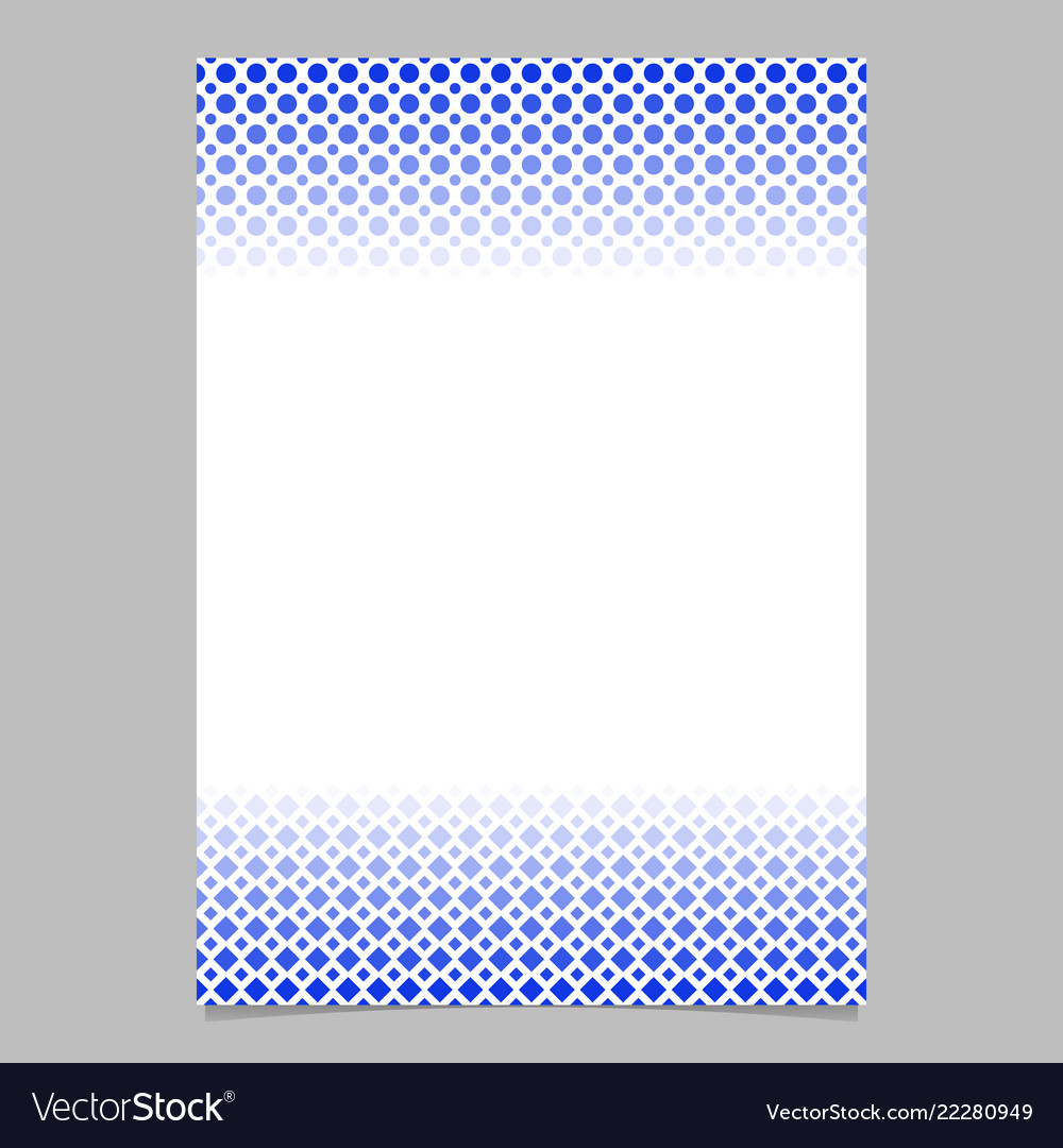 Geometric halftone pattern poster template - page