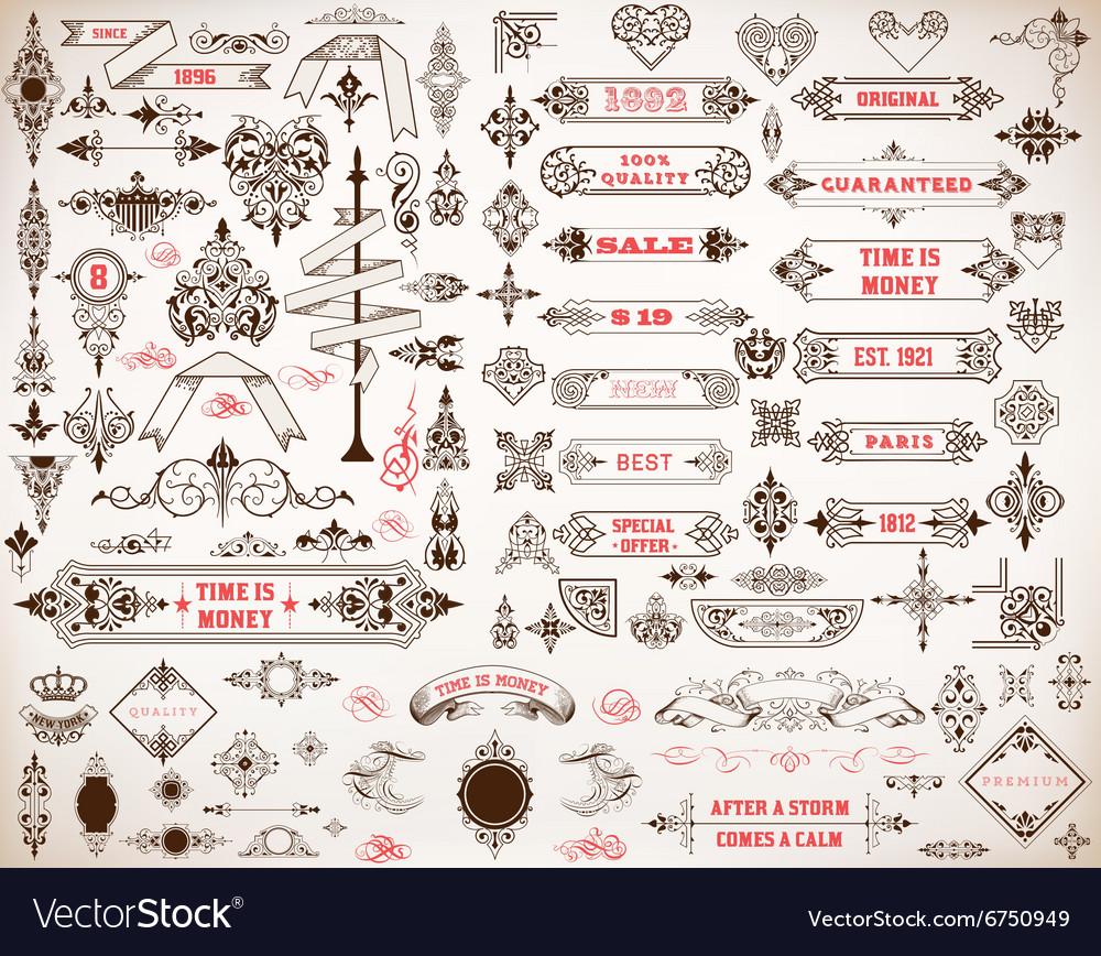 Mega set of design elements