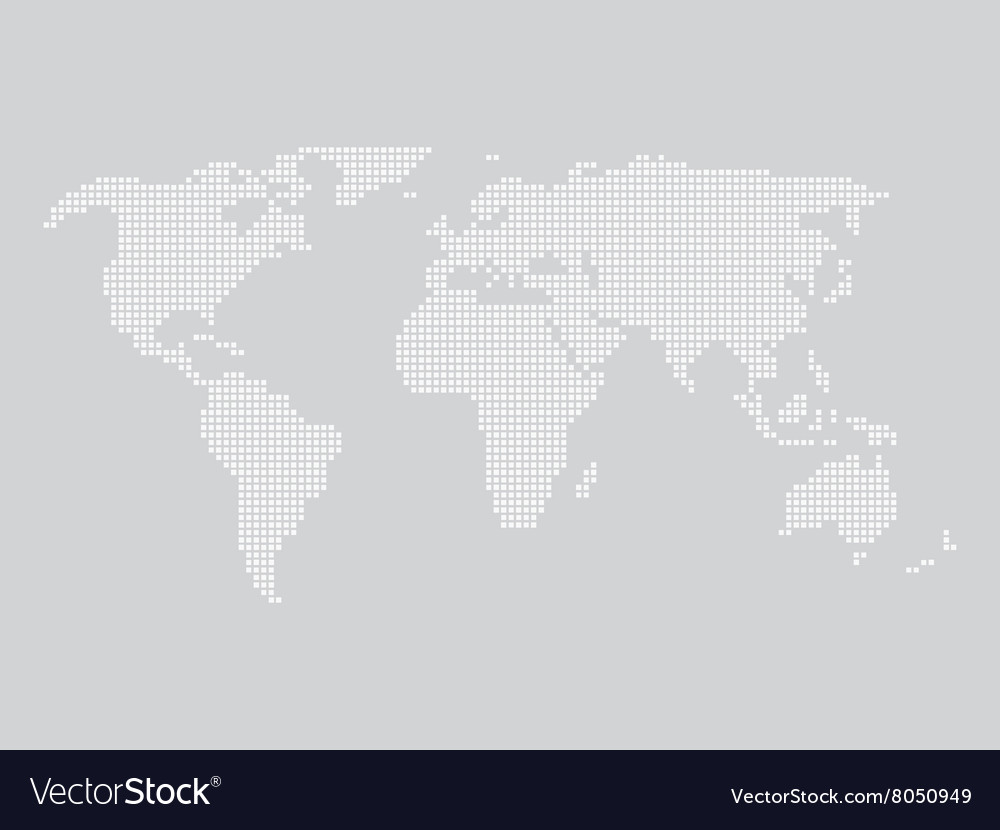 World map made of squares royalty free vector image world map made of squares vector image gumiabroncs Choice Image