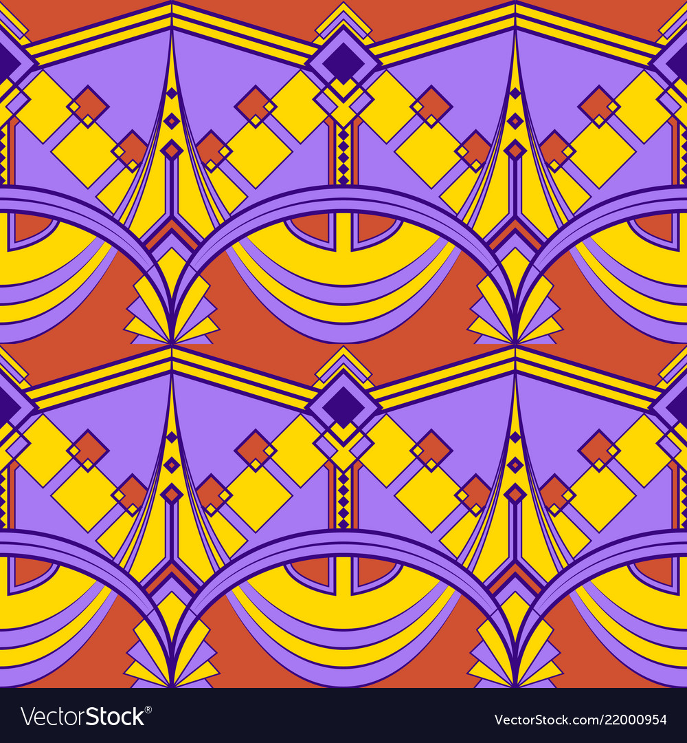 Abstract art color seamless modern tiles pattern