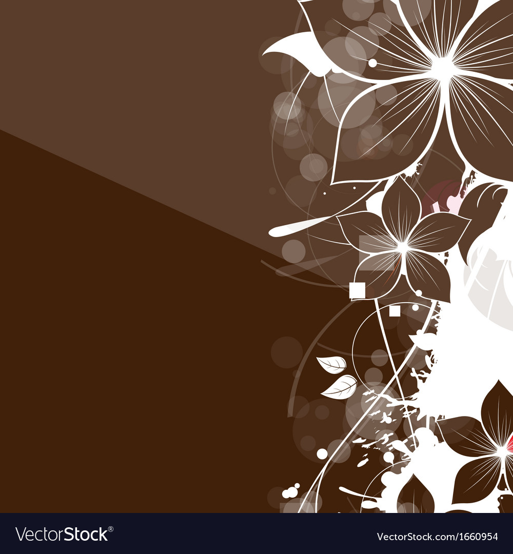 Abstract Vintage Floral Background Royalty Free Vector Image
