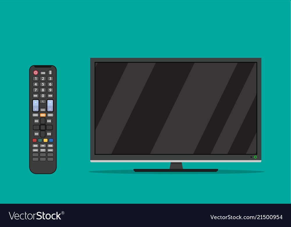 Black television screen
