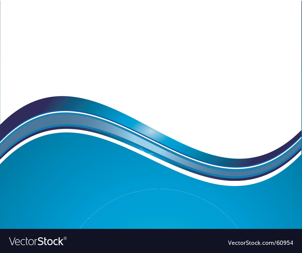 blue wave royalty free vector image vectorstock rh vectorstock com vector wave line art vector wave line art