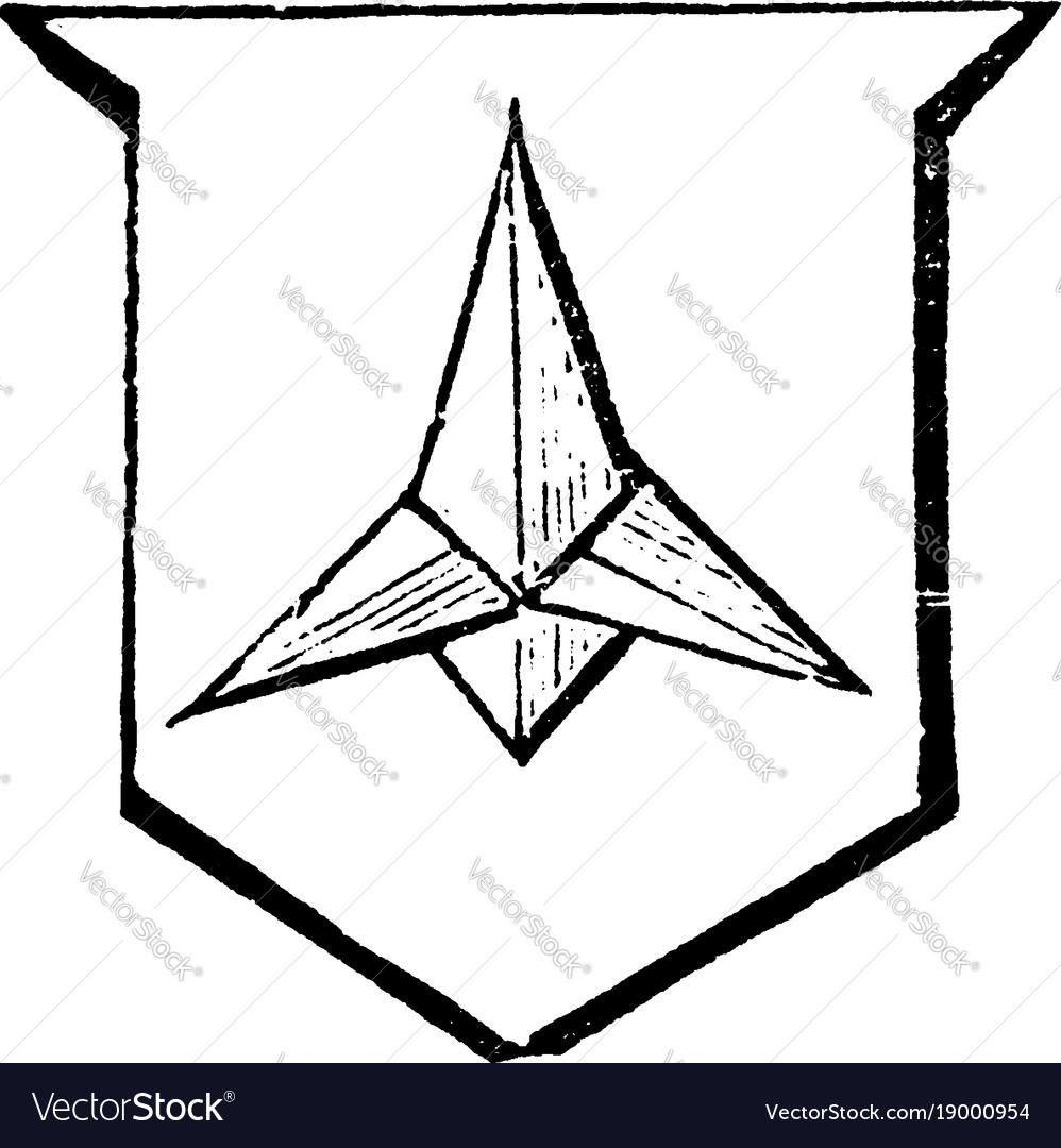 Caltrop is an iron instrument made to annoy an vector image