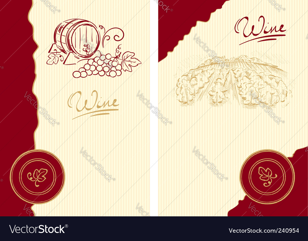 Classic wine label vector image