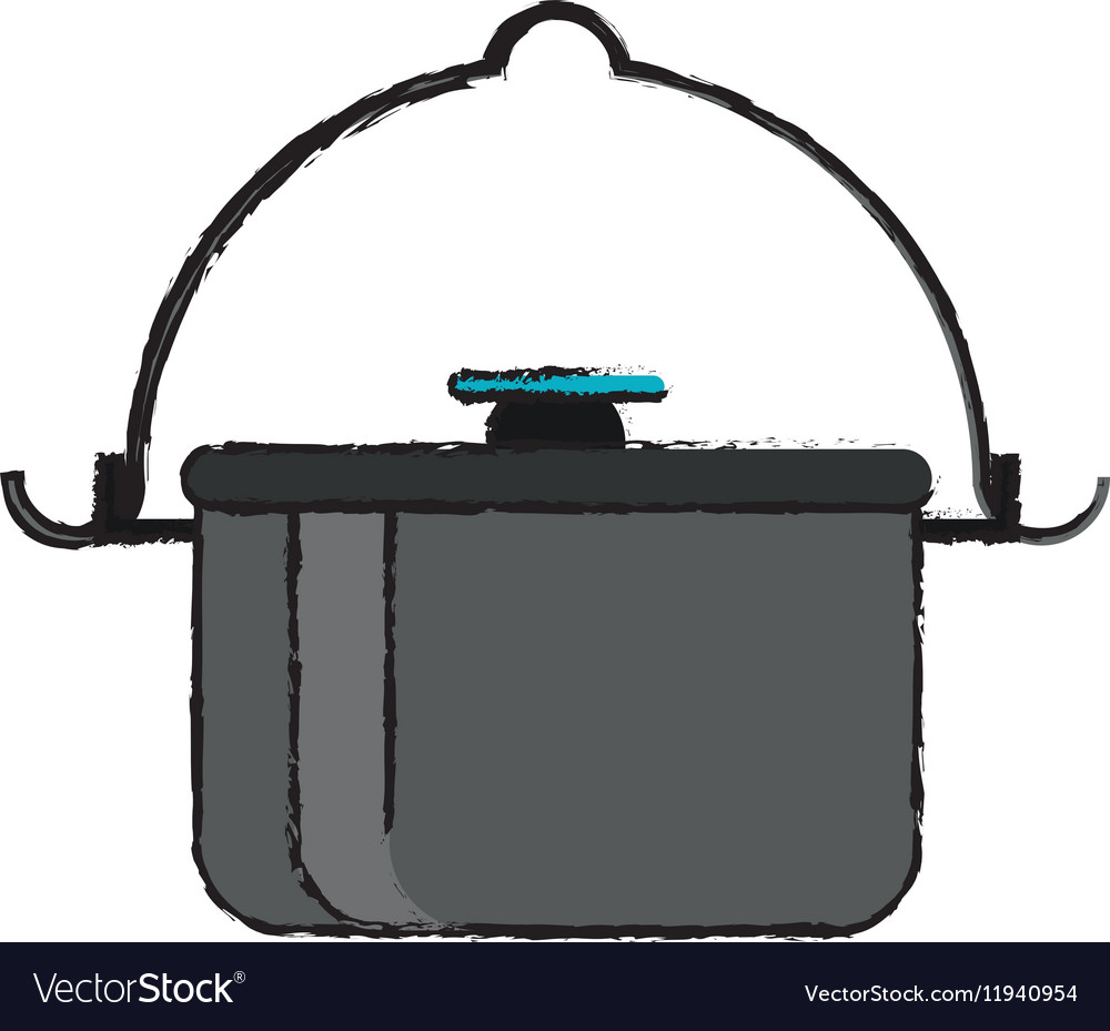 Drawing pot food element camping