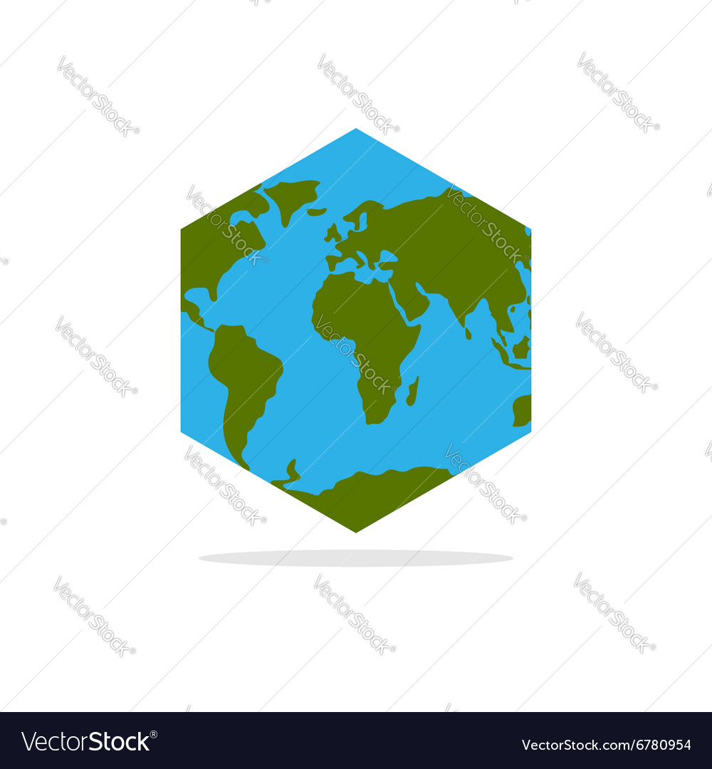 Hexagonal atlas of earth world map with continents hexagonal atlas of earth world map with continents vector image gumiabroncs Images