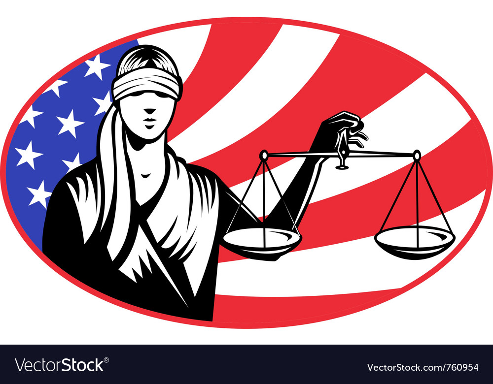 Lady holding justice scales